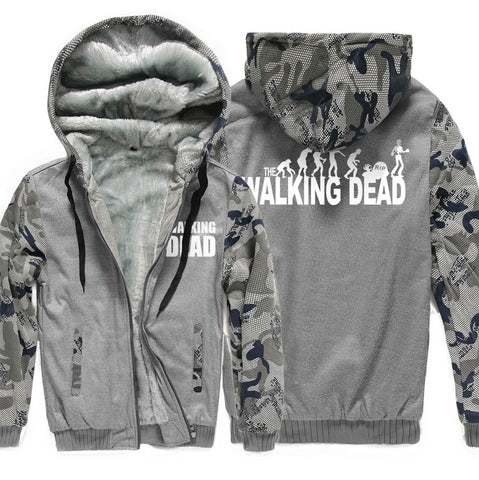 Image of The Walking Dead Jackets - Solid Color The Walking Dead Series Evolution Theory Icon Fleece Jacket