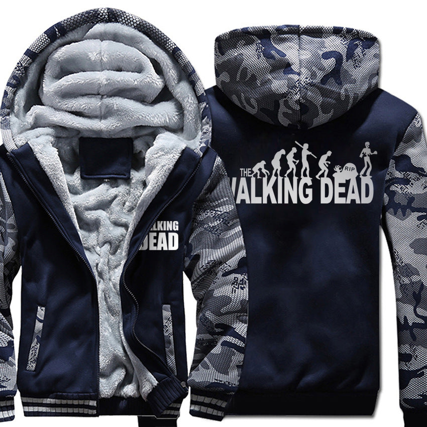 The Walking Dead Jackets - Solid Color The Walking Dead Series Evolution Theory Icon Fleece Jacket