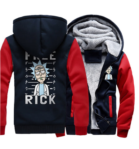 Rick and Morty Jackets - Solid Color Rick and Morty Anime Series Rick Icon Super Cool 3D Fleece Jacket