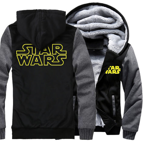 Image of Star Wars Jackets - Solid Color Star Wars Series Star Wars Movie Icon Super Cool Fleece Jacket