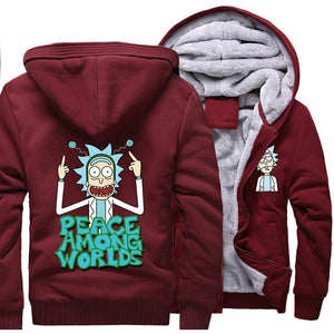 199e3fc2 Rick and Morty Jackets - Solid Color Rick and Morty Anime Series Spoof  Fleece Jacket ...