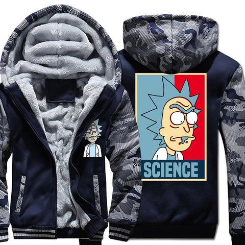 Rick and Morty Jackets - Rick and Morty Series Rick and Morty Camouflage Clothing Fleece Jacket