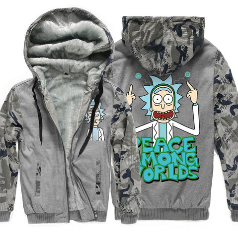Rick and Morty Jackets - Solid Color Rick and Morty Anime Series Funny Fleece Jacket
