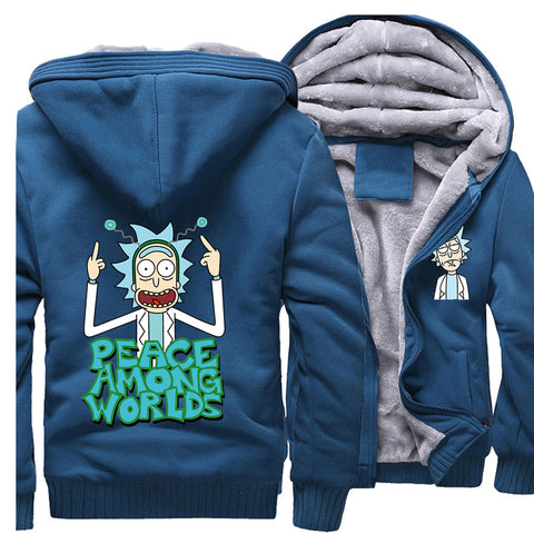 Rick and Morty Jackets - Solid Color Rick and Morty Anime Series Spoof Fleece Jacket