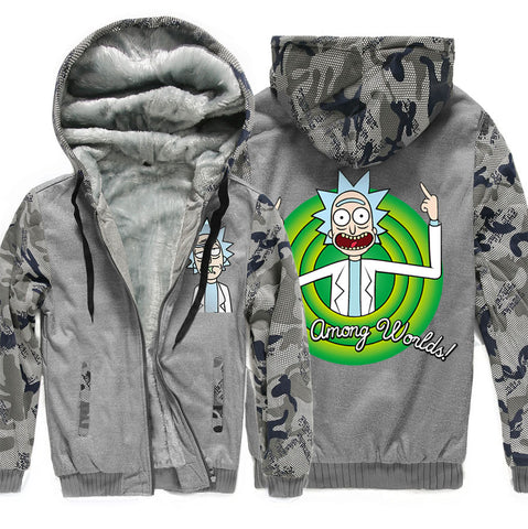 Rick and Morty Jackets - Rick and Morty Anime Series Rick Sign Super Cool Fleece Jacket