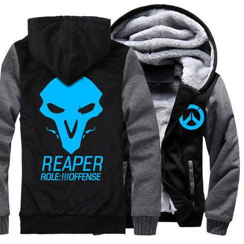 Image of REAPER Jackets - Solid Color REAPER Series REAPER Icon Luminous Super Cool Fleece Jacket