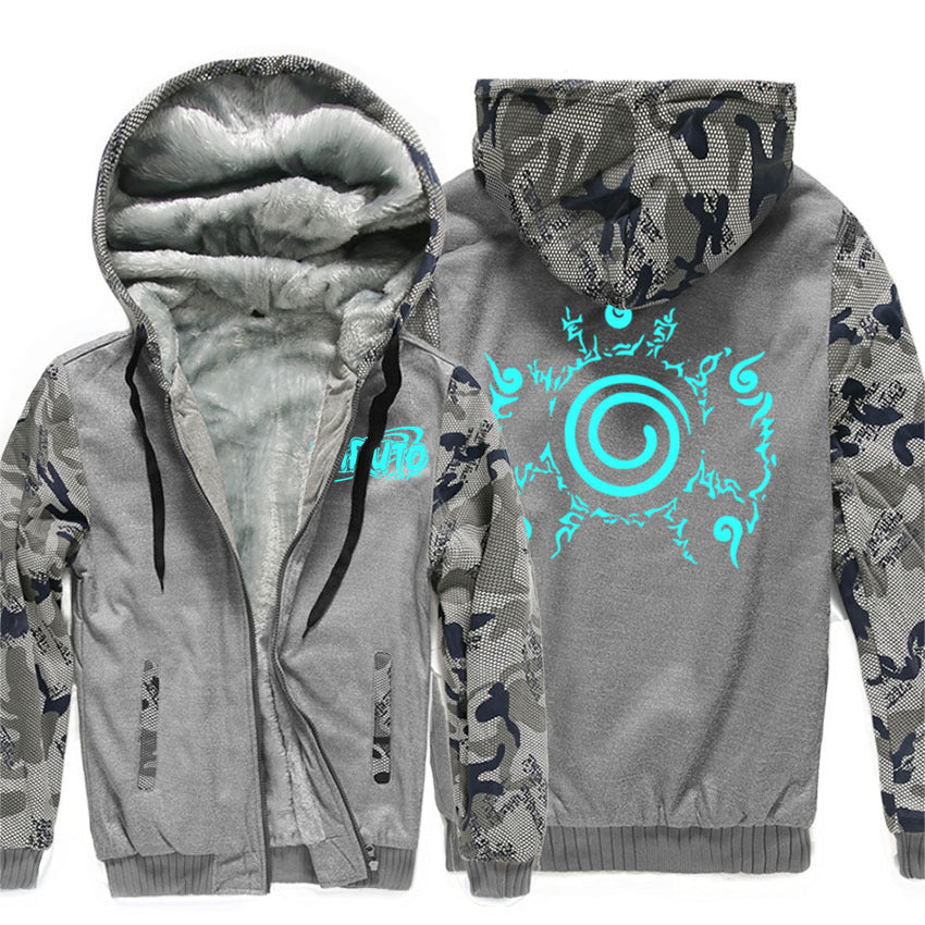 Naruto Jackets - Naruto Anime Series Naruto Sign Luminous Super Cool Fleece Jacket
