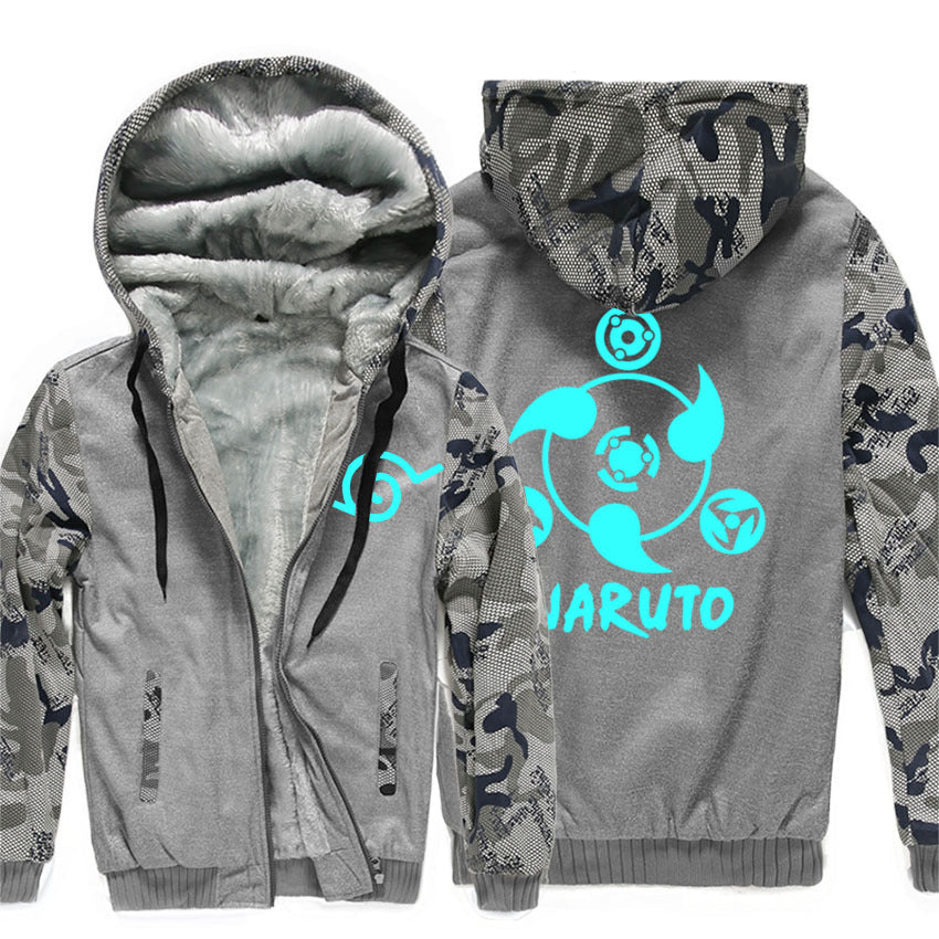 Naruto  Jackets - Solid Color Naruto Anime Series Super Cool Luminous Fleece Jacket