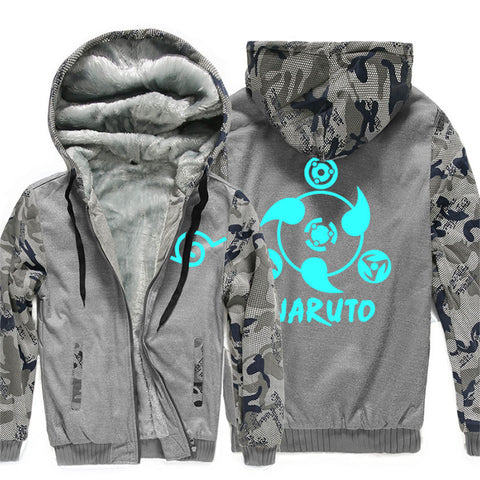 Image of Naruto  Jackets - Solid Color Naruto Anime Series Super Cool Luminous Fleece Jacket
