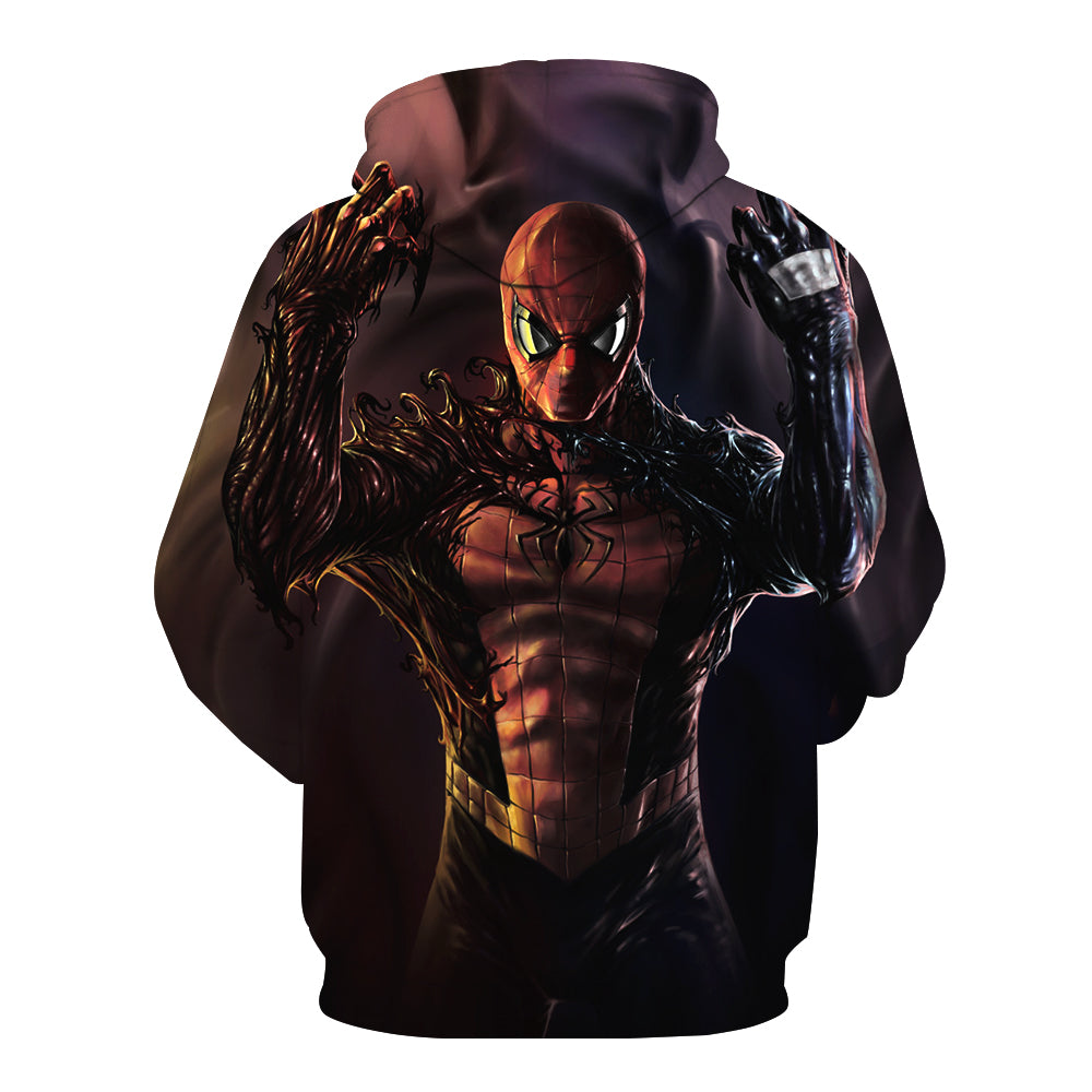 Spiderman Hoodies - Venom Spiderman Series Cool 3D Hoodie