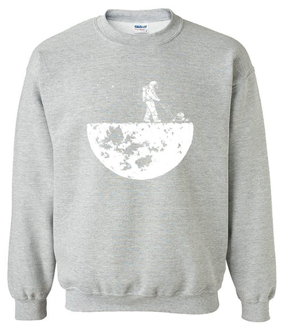 Image of Men's Sweatshirts - Men's Sweatshirt Series Astronaut Icon Fleece Sweatshirt