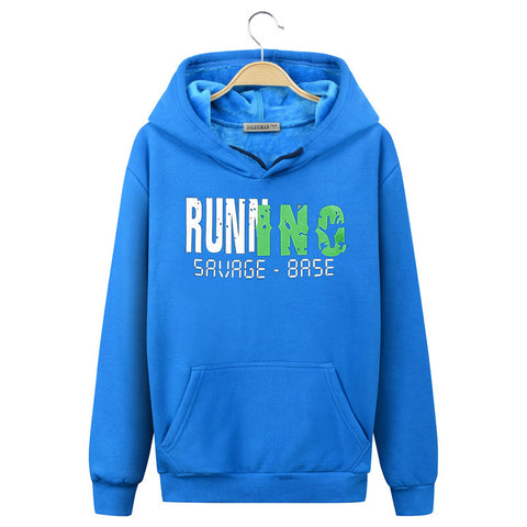 Image of Harajuku Style Hoodies - Solid Color Fashion Motion Fleece Hoodie