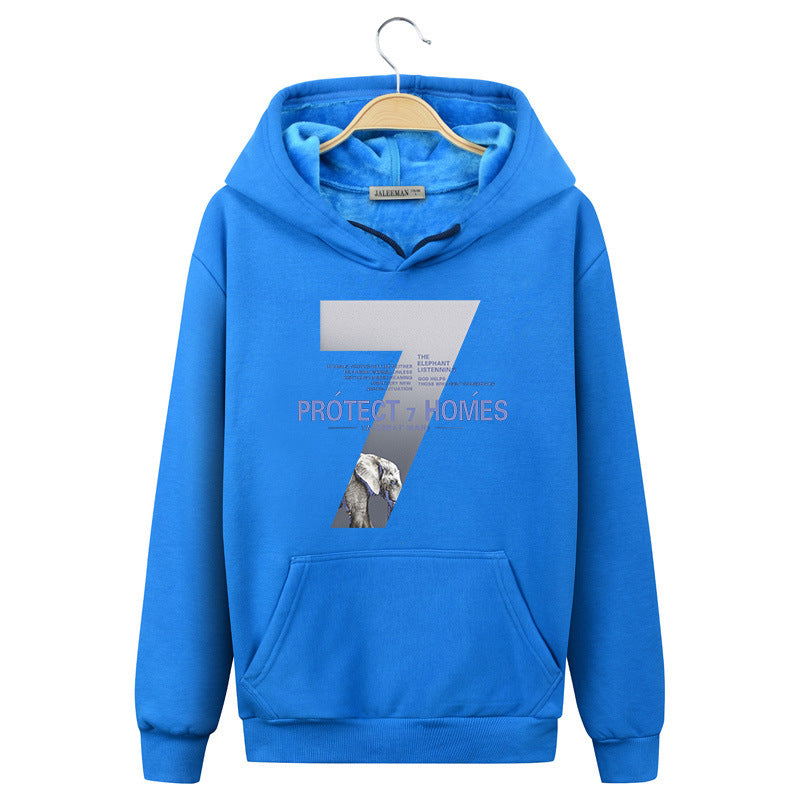 Harajuku Style Hoodies - Solid Color Harajuku Style Series Elephant Fashion Motion Fleece Hoodie