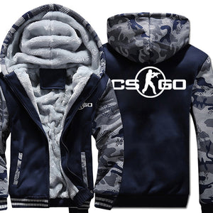 Counter-strike Jackets - Solid Color Counter-strike Game Series Counter-strike Sign Super Cool Fleece Jacket