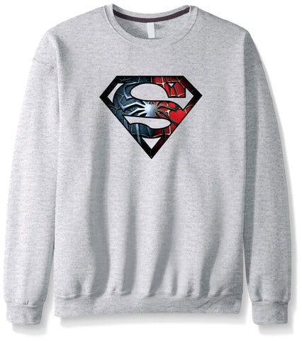 Men's Sweatshirts - Men's Sweatshirt Series Super Man Icon Fleece Sweatshirt