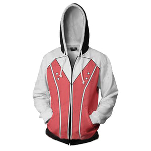 Kingdom Hearts Kairi Hoodies - Zip Up Pink Hoodie