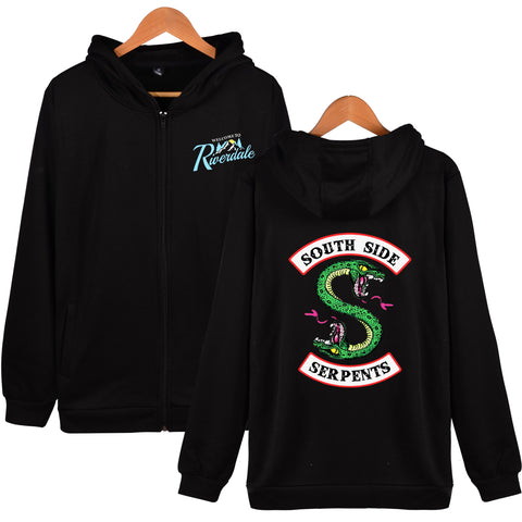 Riverdale Hoodies - Riverdale Super Cool Logo Icon Zip Up Hoodie