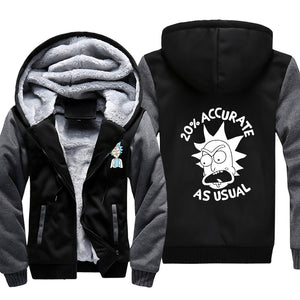 Rick and Morty Jackets - Solid Color Rick and Morty Anime Series Cartoon Fleece Jacket