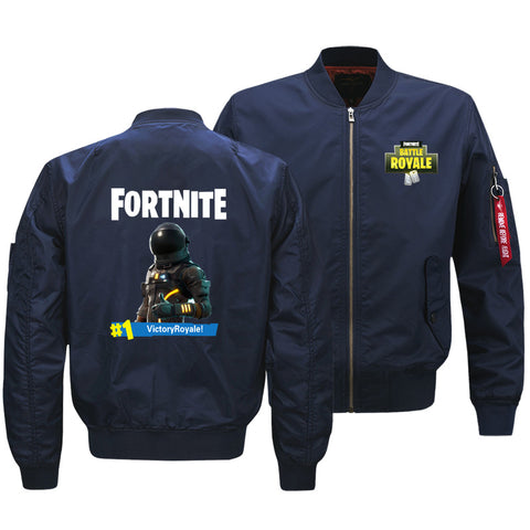 Fortnite Jackets - Solid Color Fortnite Game Space Suit Icon Fleece Jacket