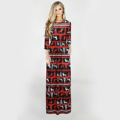 Christmas Dresses - Long Sleeves White Goat Dress