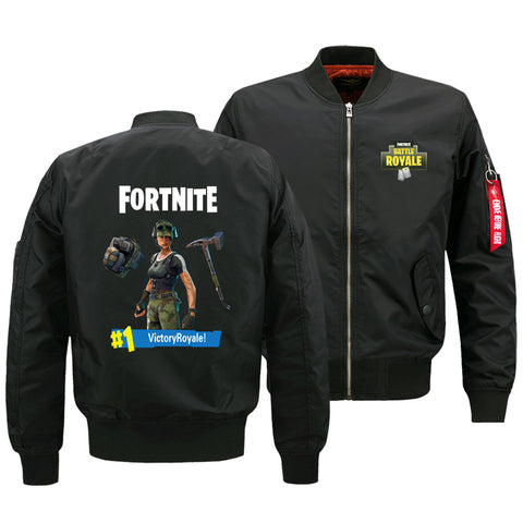 Fortnite Jackets - Solid Color Fortnite Game Special Forces Victory Royale Icon Fleece Jacket