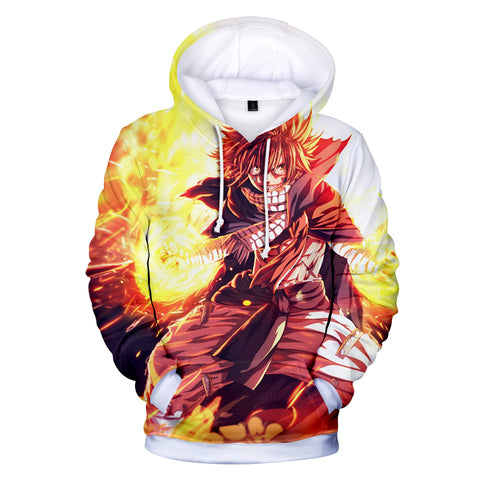 Fairy Tail Hoodies - Fairy Tail Anime Series Natsu Super Cool Hoodie
