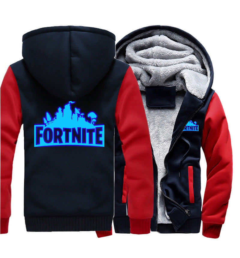 Fortnite Jackets - Solid Color Fortnite Game Series Fortnite Luminous Fleece Jacket