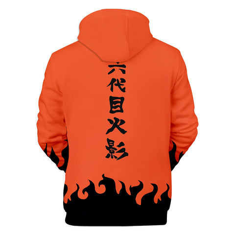 Image of Naruto Hoodies - Naruto Anime Series Sixth Generation Naruto Cosplay Hoodie
