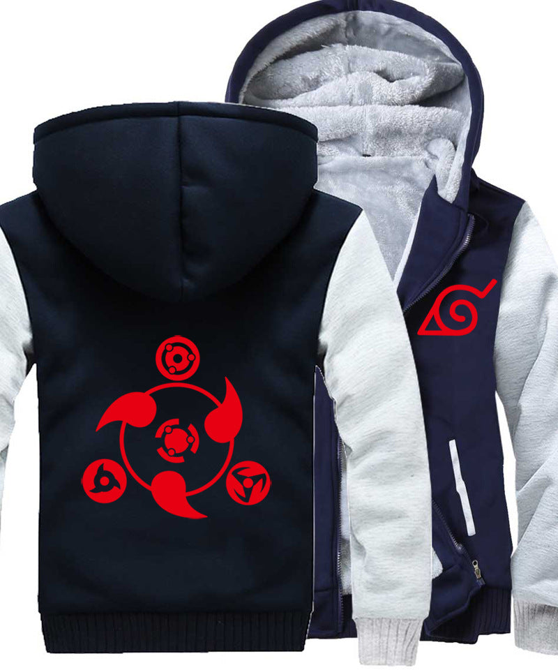 Naruto Jackets - Solid Color Naruto Anime Series Naruto Sign Super Cool Fleece Jacket