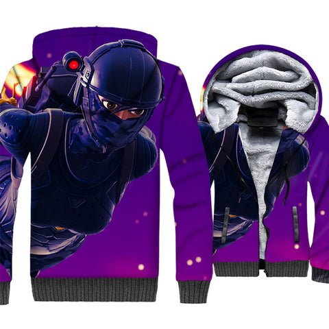 Fortnite Jackets - Solid Color Fortnite Series ELITE AGENT Super Cool 3D Fleece Jacket