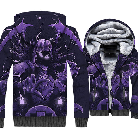 Fortnite Jackets - Solid Color Fortnite Series RAVEN Demon Warrior Super Cool 3D Fleece Jacket