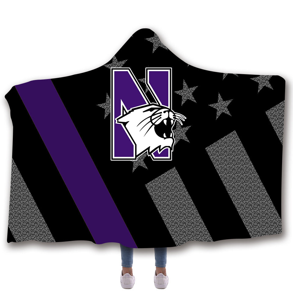 Wildcats Hooded Blankets - Wildcats Series Fleece Hooded Blanket