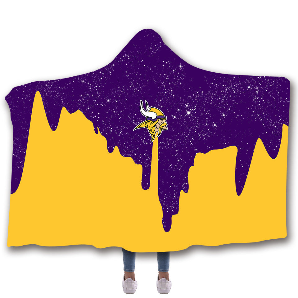 Minnesota Vikings Hooded Blankets - Minnesota Vikings Fleece Hooded Blanket