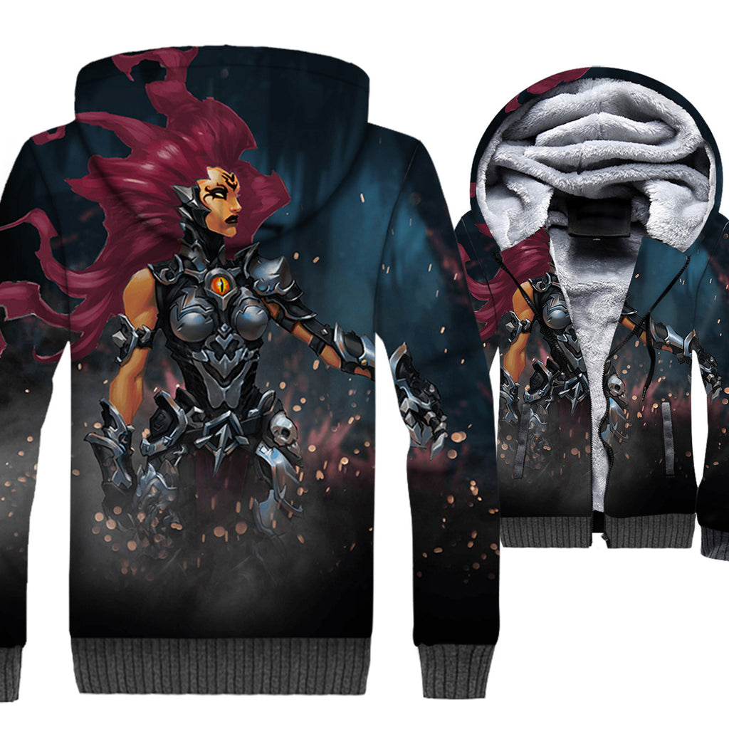 Darksiders Jackets - Darksiders Game Series Fury Game Character Super Cool 3D Fleece Jacket