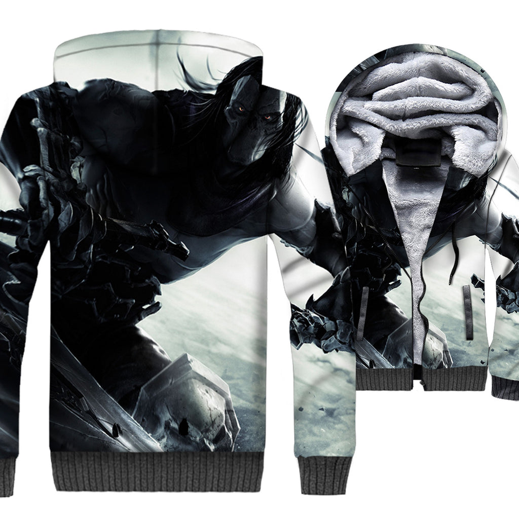 Darksiders Jackets - Darksiders Game Series Death Reaper Super Cool 3D Fleece Jacket