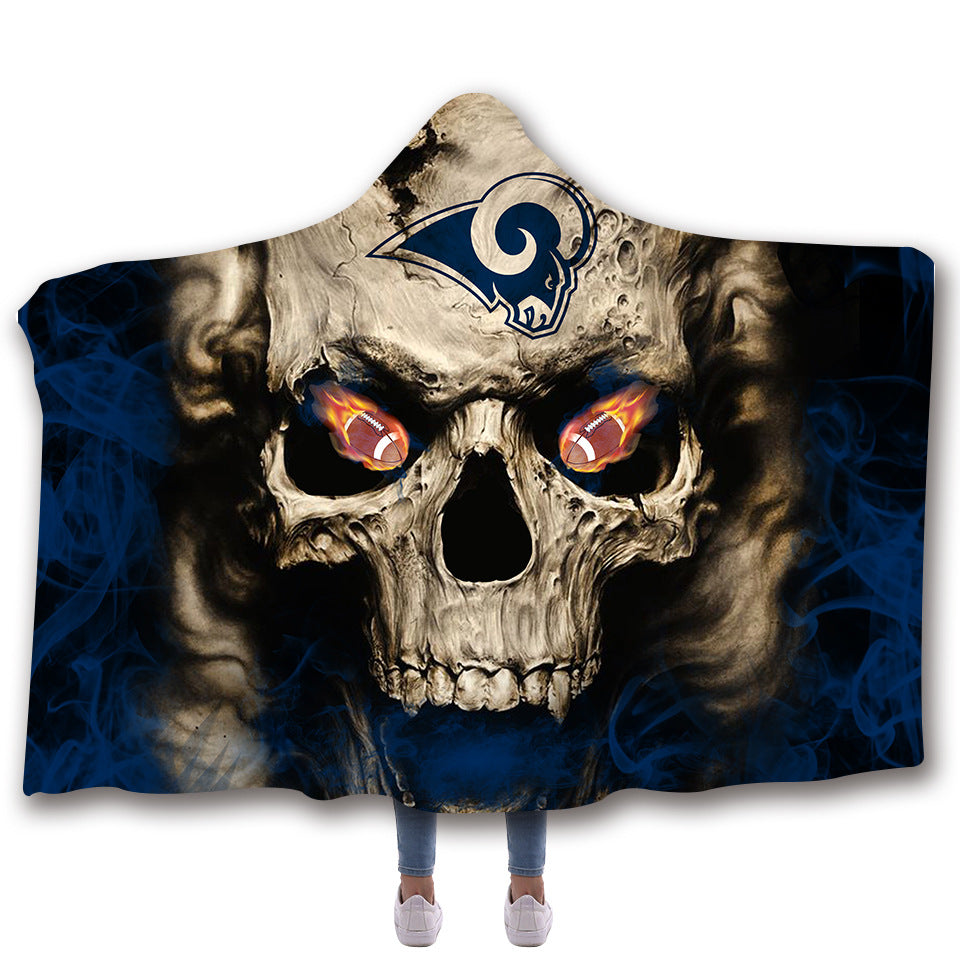 Rams Hooded Blankets - Rams Series Fleece Hooded Blanket