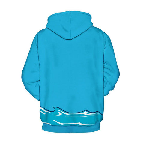 Christmas Hoodies - Christmas Great White Shark Icon Super Cool 3D Hoodie