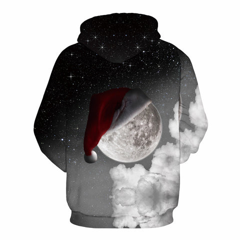 Image of Christmas Hoodies - Christmas Galaxy Icon Super Cool 3D Hoodie