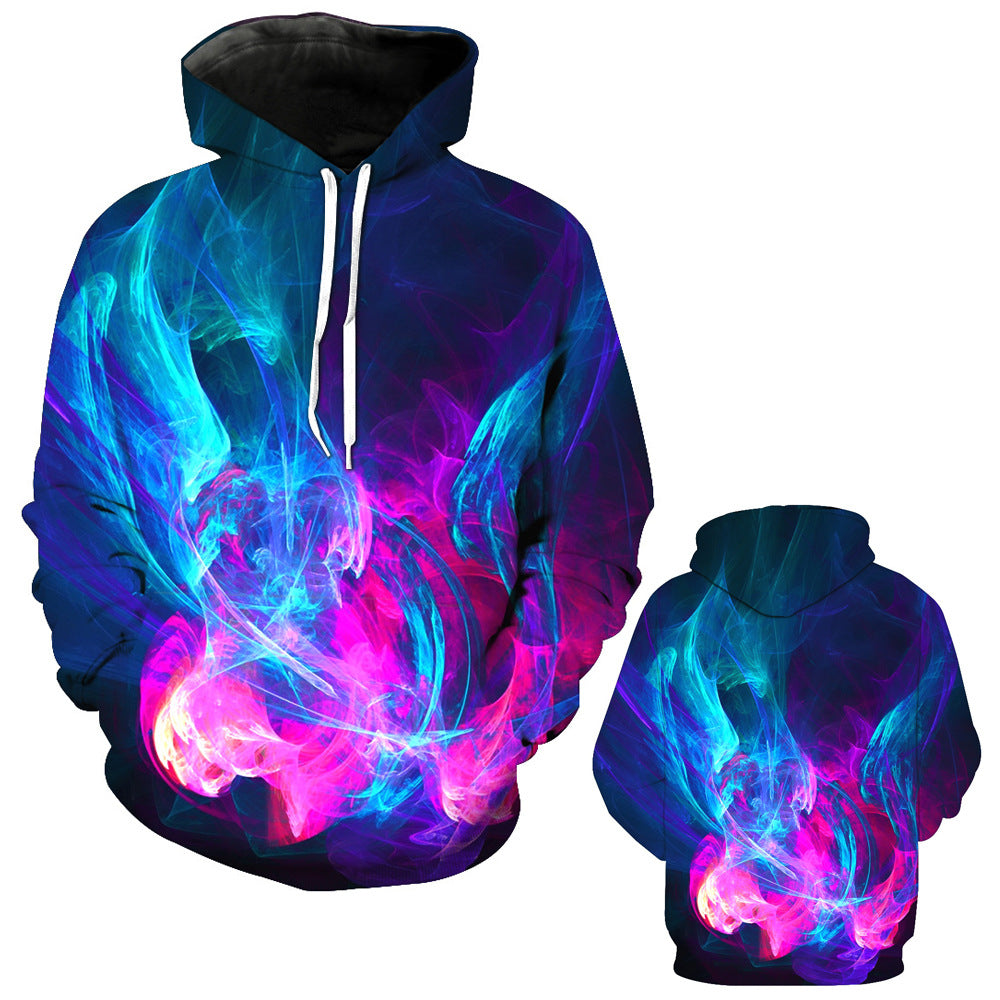 33cba0946f93 Nightmare Before Christmas Hoodies - Smoke Series Color Smoke Super Cool 3D  Hoodie