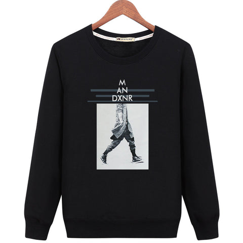 Image of Harajuku Style Sweatshirts - Solid Color Harajuku Style Series M AN DXNR Icon Fashion Fleece Sweatshirt