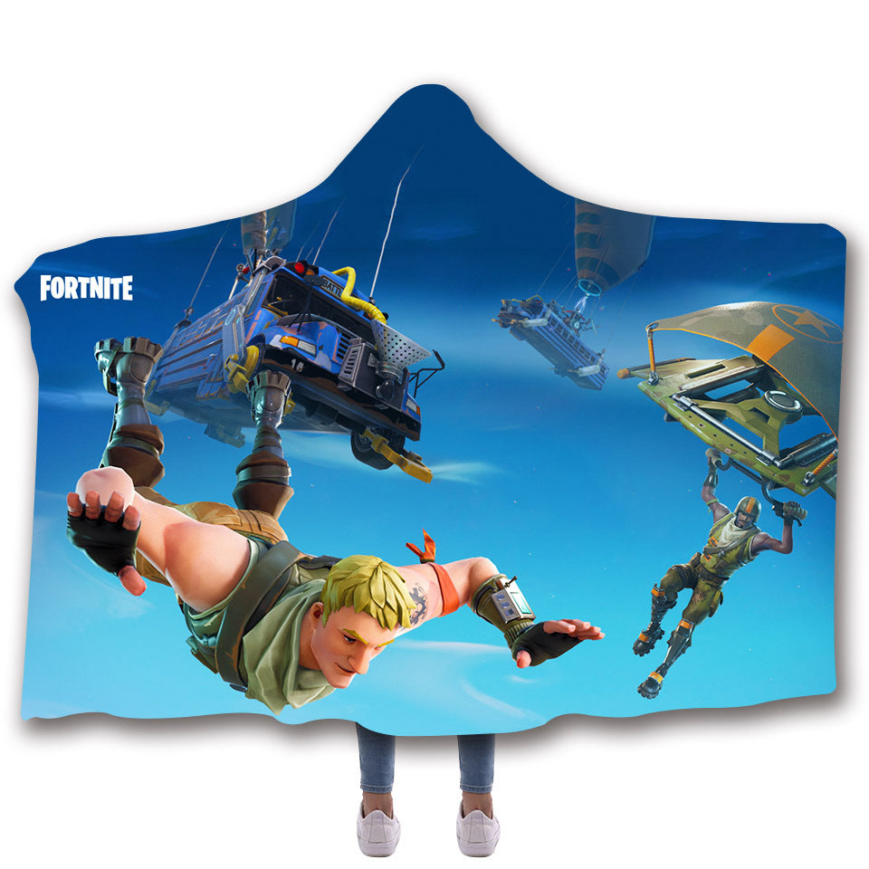 Fortnite Hooded Blankets - Fortnite RANGER Fleece Hooded Blanket