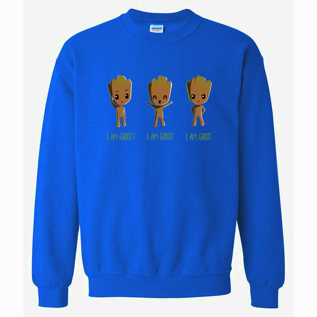 Men's Sweatshirts - Men's Sweatshirt Series I AM GROOT Icon Fleece Sweatshirt