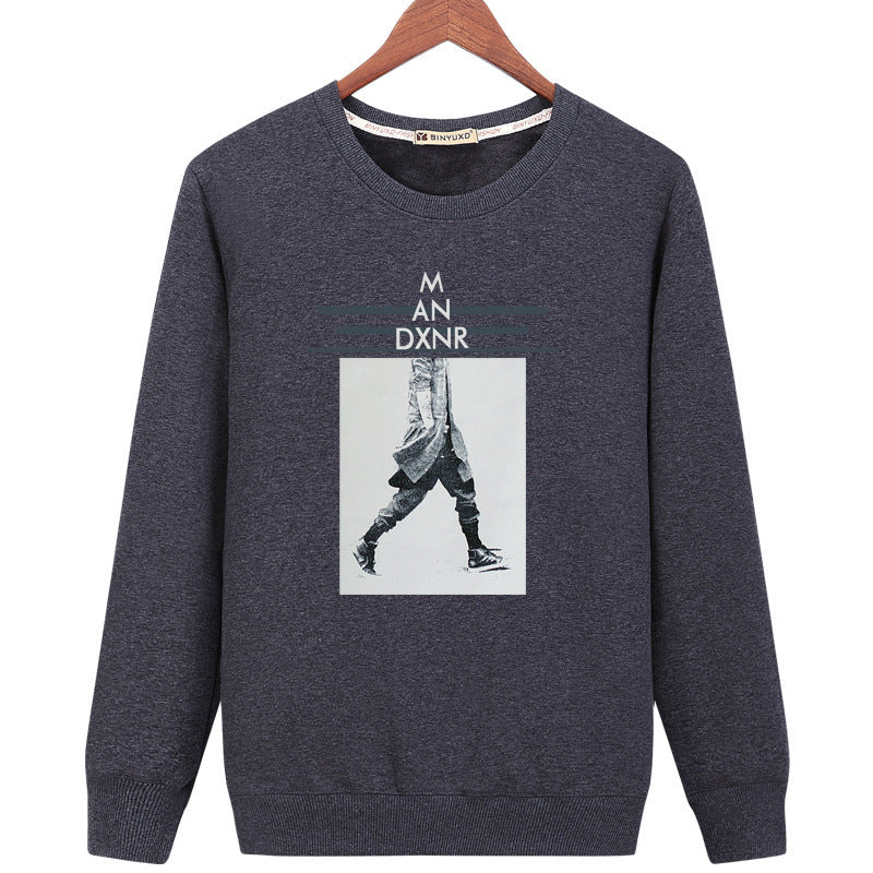 Harajuku Style Sweatshirts - Solid Color Harajuku Style Series M AN DXNR Icon Fashion Fleece Sweatshirt