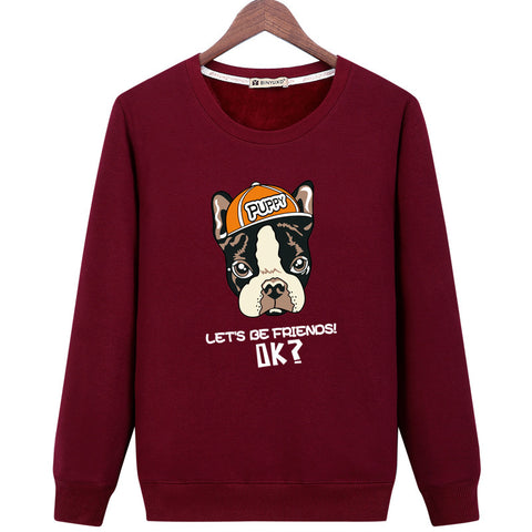 Image of The Puppy Sweatshirts - Solid Color The Puppy Series Puppy Icon Fleece Sweatshirt