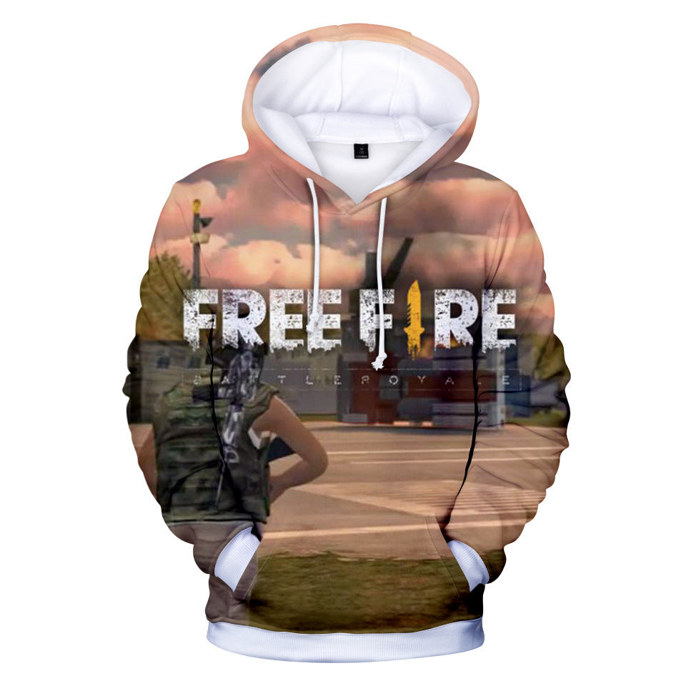 Free Fire Hoodies Free Fire Game Series Soldier Battle Royale Map 3d Hoodie