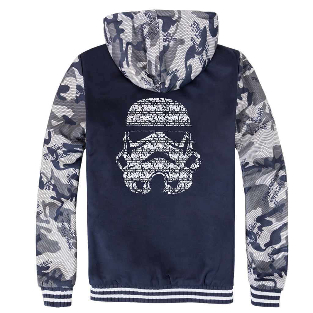 Star Wars Jackets - Solid Color Star Wars Movie Series Warrior Icon Fleece Jacket