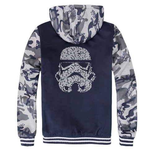 Image of Star Wars Jackets - Solid Color Star Wars Movie Series Warrior Icon Fleece Jacket