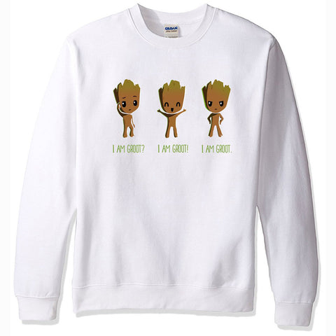 Image of Men's Sweatshirts - Men's Sweatshirt Series I AM GROOT Icon Fleece Sweatshirt
