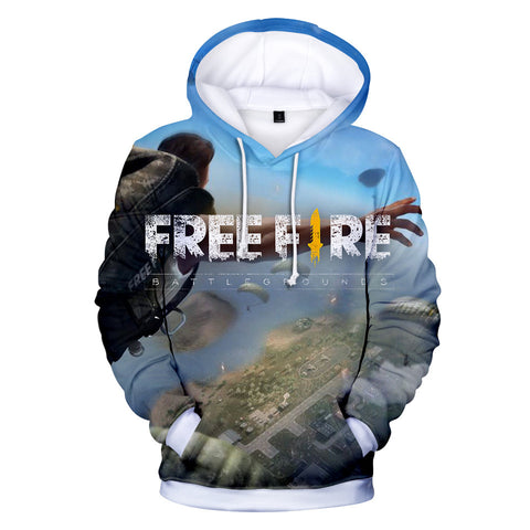 Free Fire Hoodies - Free Fire Game Series Soldier Parachuting Battle Royale 3D Hoodie