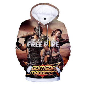 Free Fire Hoodies - Free Fire Game Series Super Soldier Battle Royale 3D Hoodie